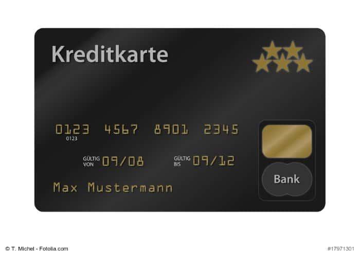 Muster einer Prepaid-Kreditkarte
